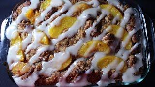 Peach Cobbler Bread Pudding Recipe
