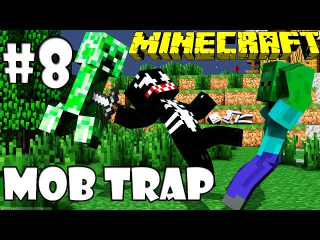 Armadilha de Mobs Perfeita MOB TRAP - #8 Cave-In MINECRAFT Vídeos De Viagens