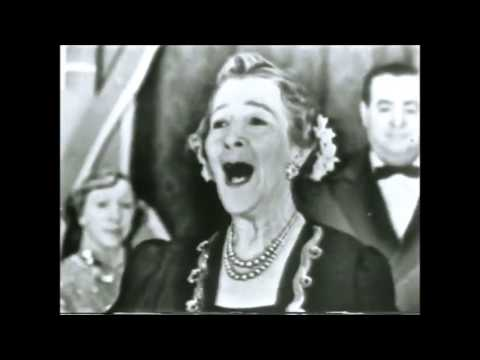 Maude Nugent 75 year old performing her hit song Sweet Rosie O'Grady (1949)