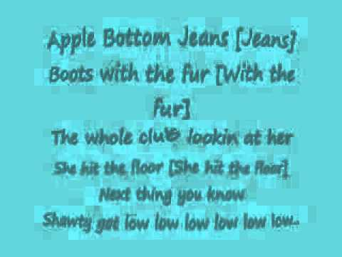 Apple Bottom Jeans Lyrics Clean - Jon Jean