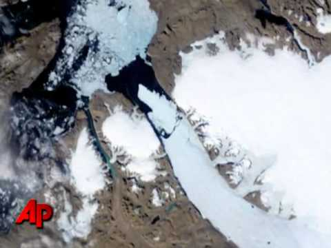 Massive Greenland Ice Island Breaks Free