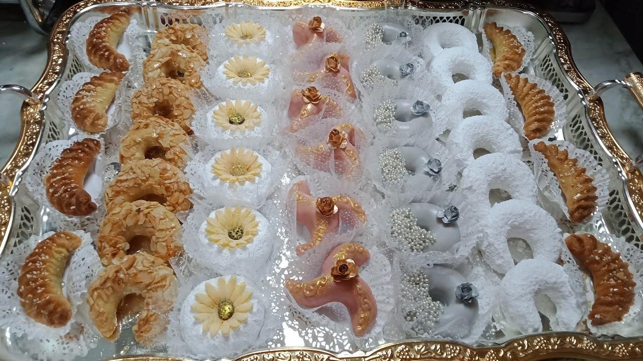 حلويات العيد والاعراس والمناسبات 6 انواع بعجينة واحدة اقتصادية وراقية سلطانة الحلويات Youtube Desserts Bread Food