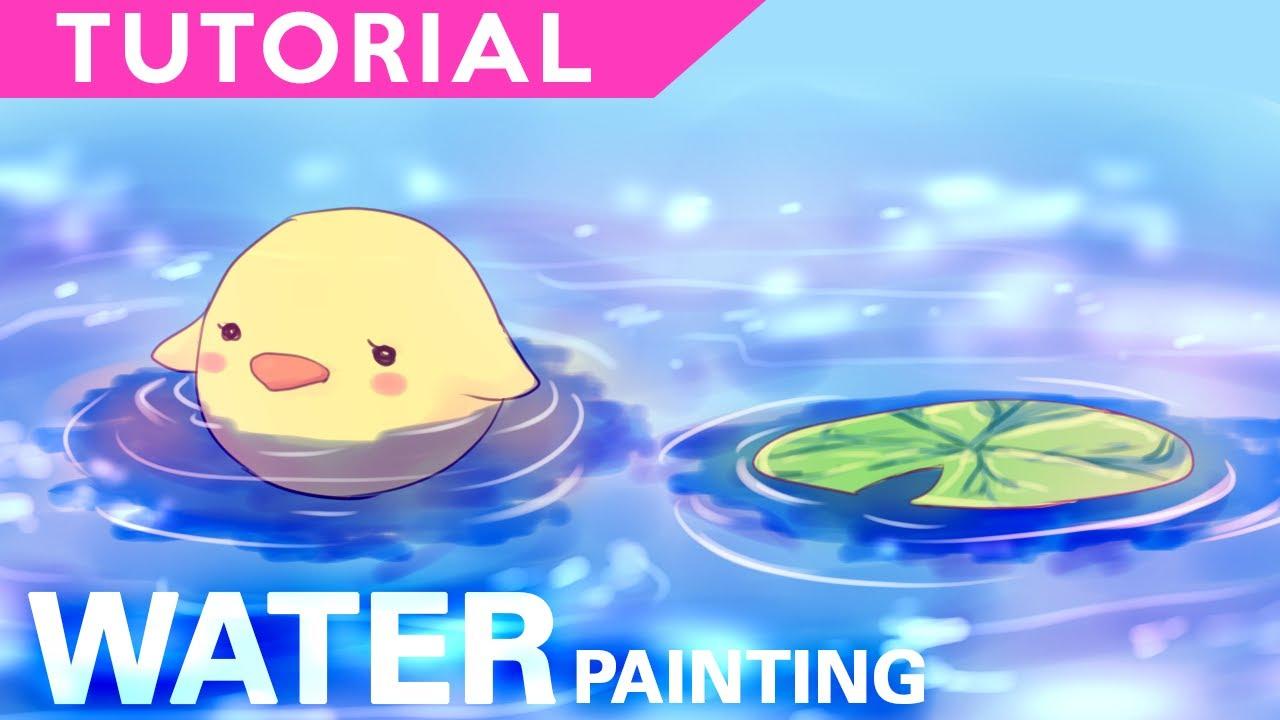 Water painting digital coloring tutorial for Painting on water tutorial