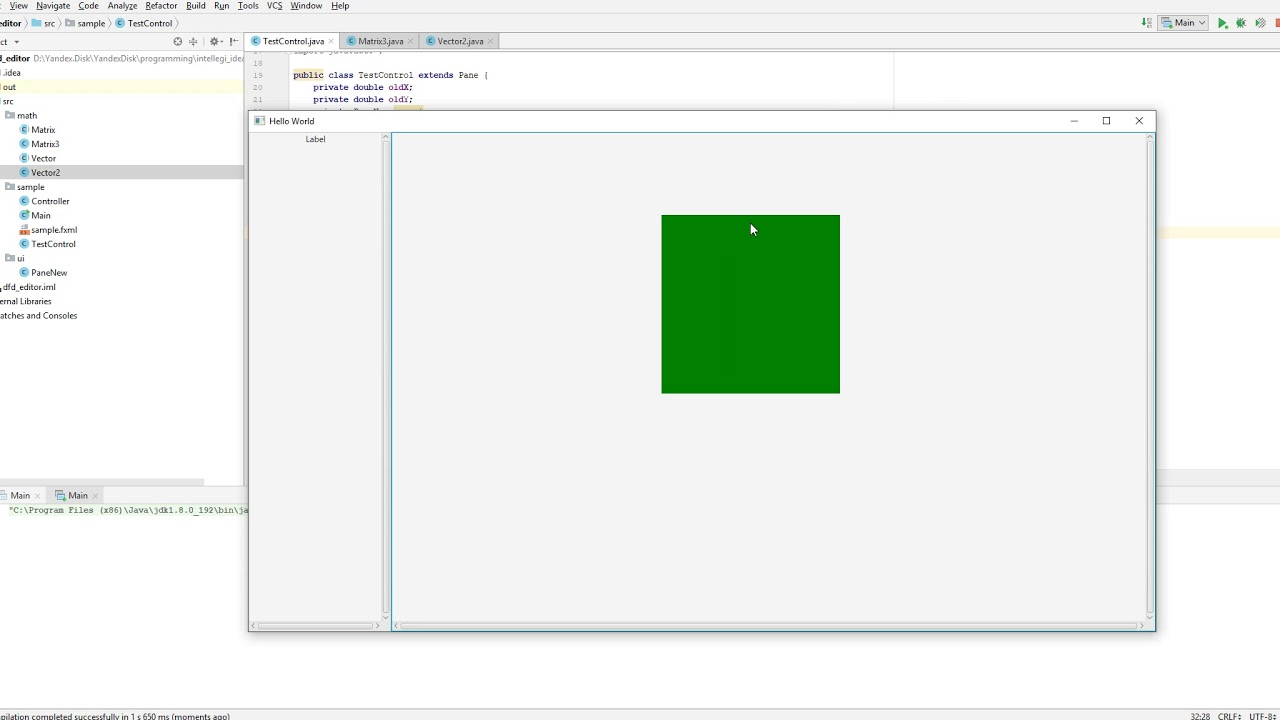 bug rotate control in JavaFX
