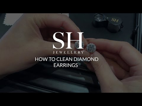 How to clean diamond earrings