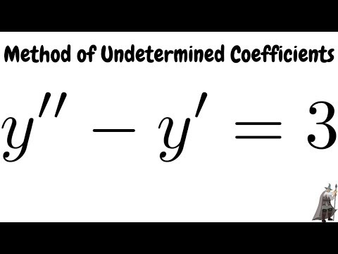 Method of Undetermined Coefficients Solving y'' - y' = 3