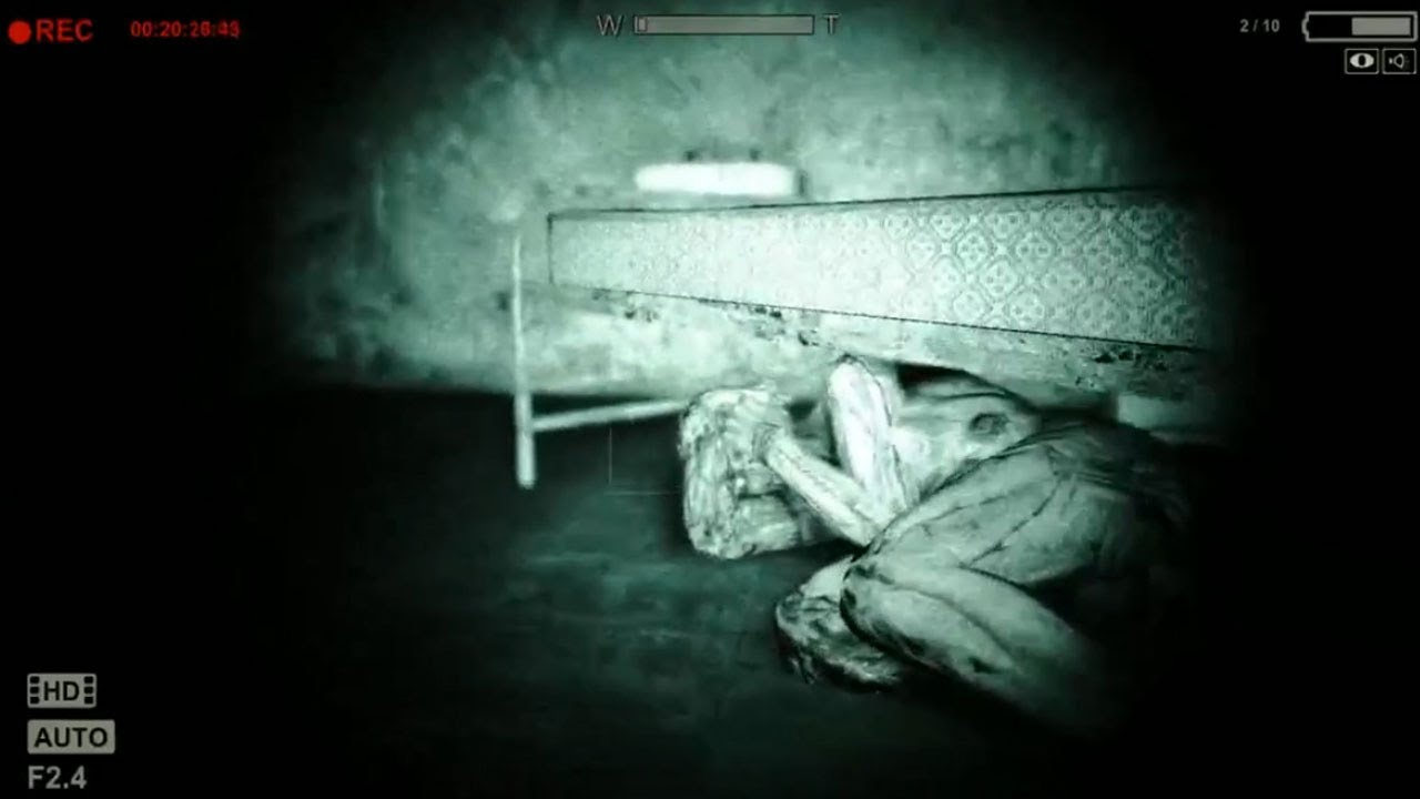 Lets Play Outlast Hiding Under Your Bed Part 10 Youtube