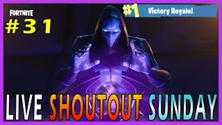 "NEW ""OMEN"" SKIN on Fortnite - Live Shoutout Sunday #31 // 200 SOLO WINS // 3385+ KILLS"
