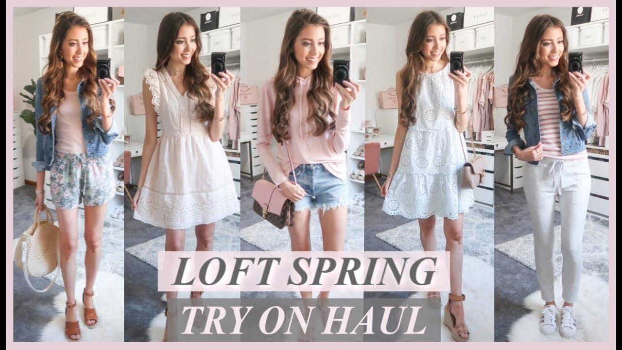 57b59bff3762 HUGE LOFT TRY ON HAUL   SPRING CLOTHING HAUL 2019 - YouTube