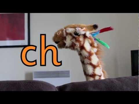 Geraldine the Giraffe learns /ch/ sound