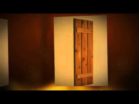 Exterior Wood Shutters - YouTube