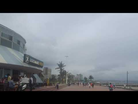 Durban Beach South Africa, Marine Parade, KwaZulu Natal on the Indian Ocean