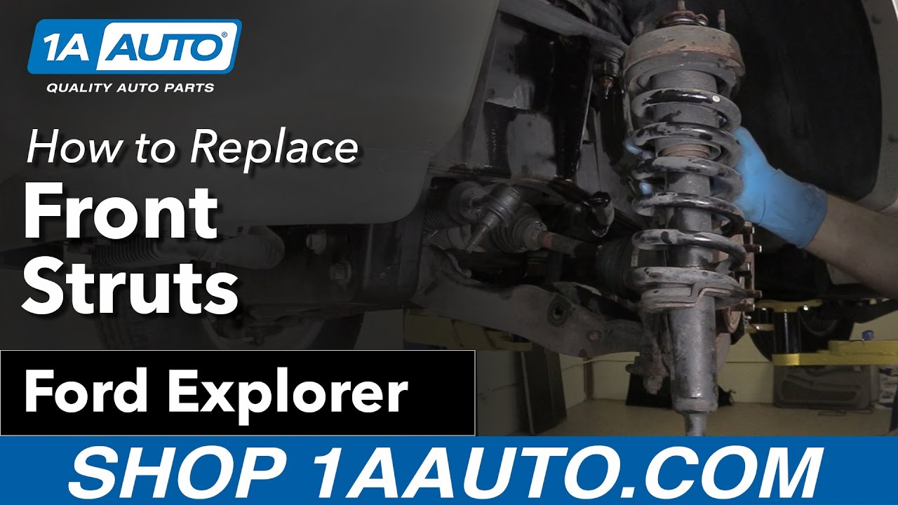 How to Replace Front Struts 06-10 Ford Explorer - YouTube