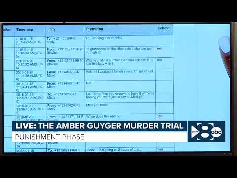 prosecutors-present-amber-guyger's-text-messages-as-evidence-during-sentencing-phase-of-trial