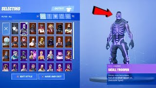 My NEW Fortnite Locker | RARE Skins (Purple Skull Trooper, Black Knight and more)