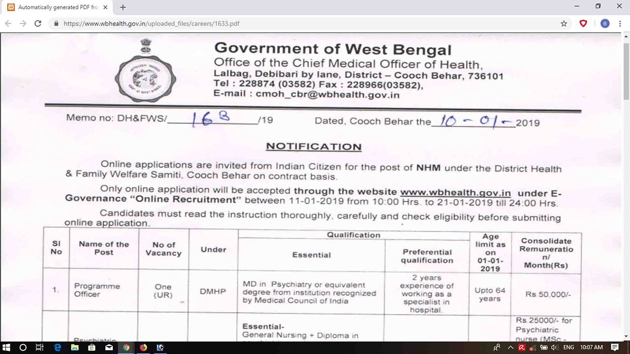 WB CMOH GNM Recruitment 2019 - Apply Online by Job Solution