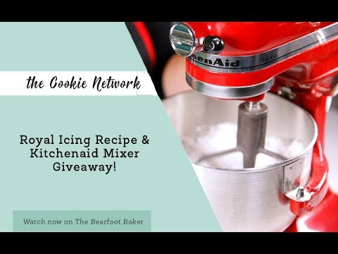 The Cookie Network Royal Icing Recipe and KitchenAid Mixer Giveaway | The Bearfoot Baker