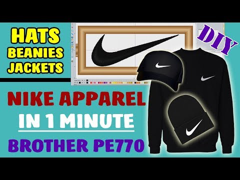 DIY | How To Make Nike Apparel | Custom Sweater / Hat / Shoes | Brother PE770 Embroidery (Part 2)