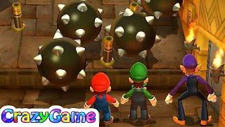 Mario Party 9 Step It Up - Mario vs Luigi vs Waluigi Master CPU Gameplay