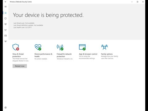 How To Fix (Windows Defender The threat service has stopped