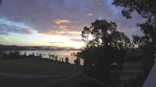 time lapse sunrise over watts bar lake in east tennessee