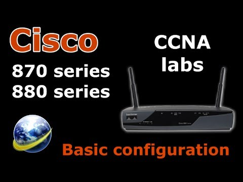 CCNA lab - Cisco 877 - how to create a simple CCNA lab at home