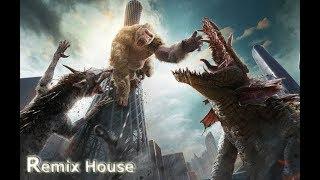 Горилла Джордж и Девис против Гигантского Крокодила. Часть 1. (Рэмпейдж 2018)