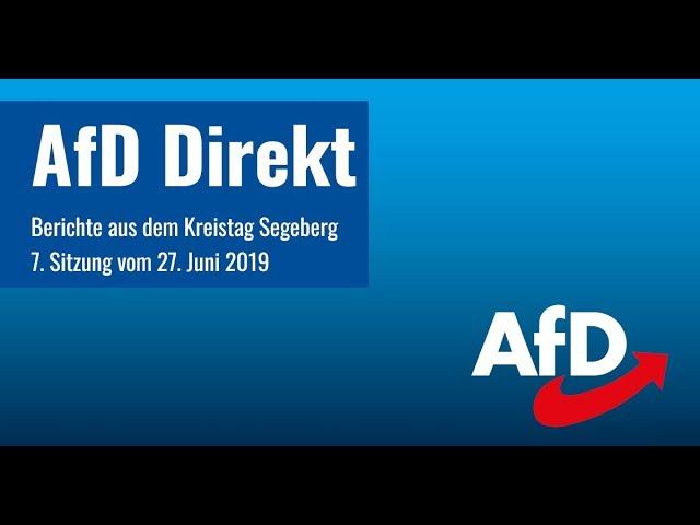 7. Sitzung Kreistag Segeberg - Kurzbericht