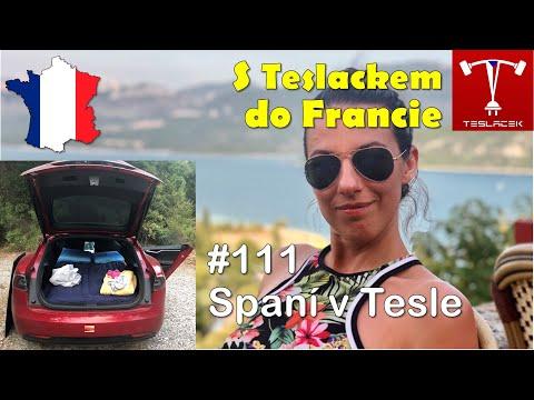 #111 Teslou do Francie: Spaní v Tesle | Teslacek