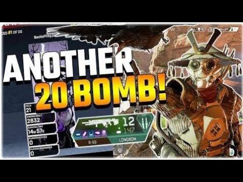 MY FAVOURITE GUN COMBO!! 20 BOMB BLOODHOUND! (Apex Legends PS4) apex