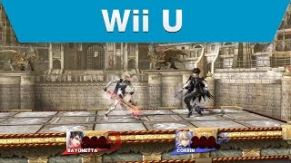 Super Smash Bros. for Nintendo 3DS/Wii U: Bayonetta/Corrin Battle Video (1on1/Coliseum)