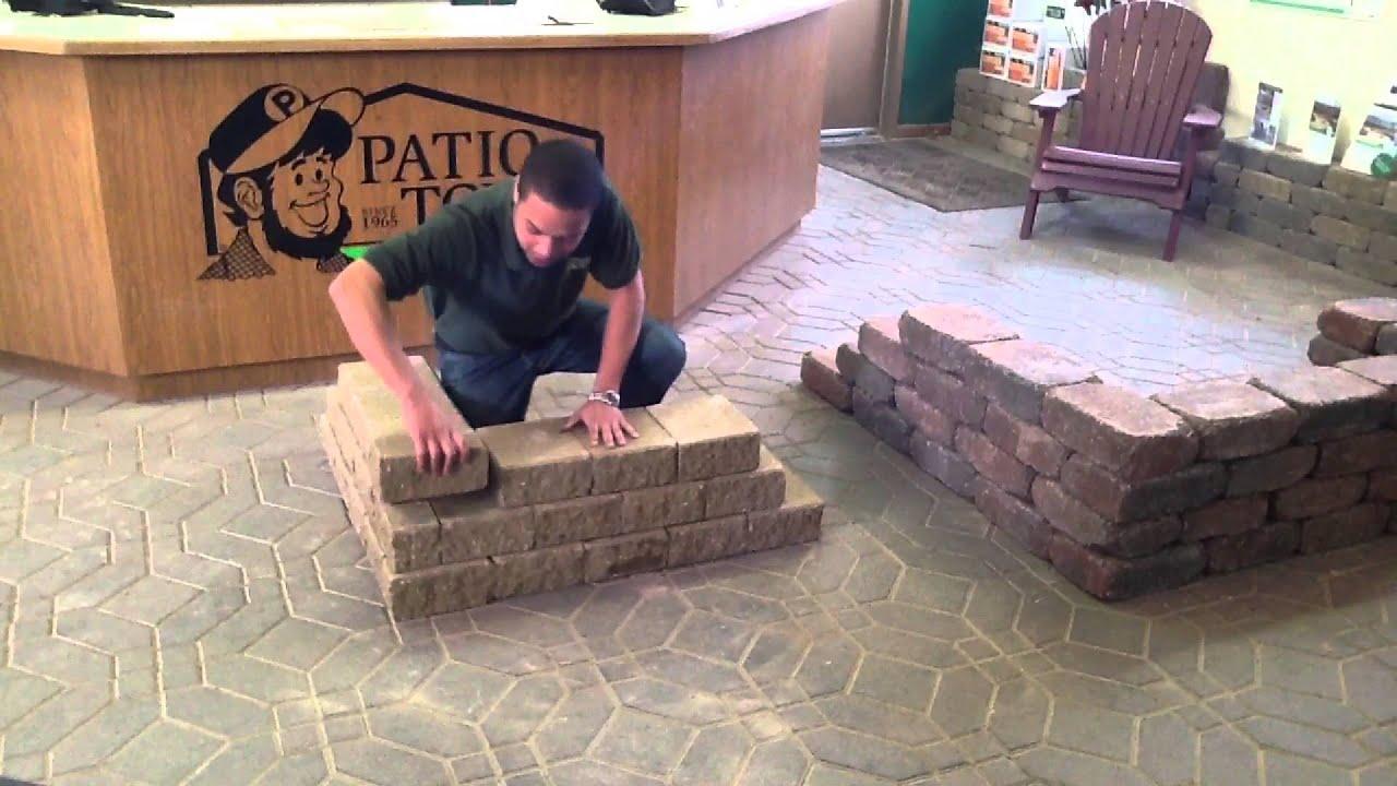 Raised Bed On Brick Patio