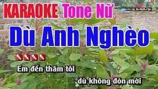 Dù Anh Nghèo Karaoke 8795| Tone Nữ - Nhạc Sống Thanh Ngân