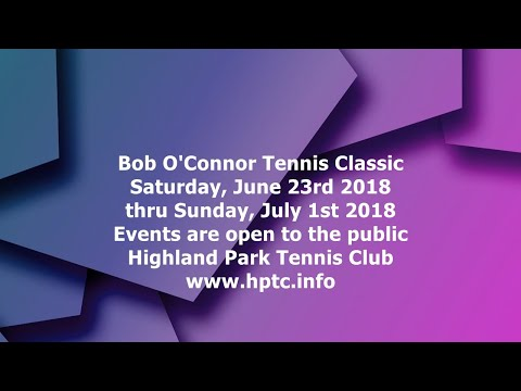 Bob O'Connor Tennis in Pittsburgh Tournament is one of the best around