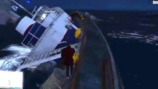 GTA Online tugboat is sinking/ epic fail