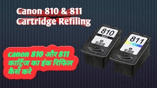 Canon 810 Black 811 colour Cartridge Refiling