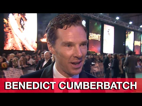 Benedict Cumberbatch Smaug Interview - The Hobbit 3 The Battle of the Five Armies World Premiere