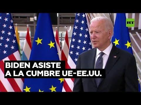 Biden asiste a la cumbre UE-EE.UU. con disputas comerciales sobre la mesa
