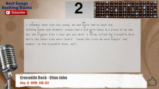 Crocodile Rock - Elton John Vocal Backing Track with chords and lyrics