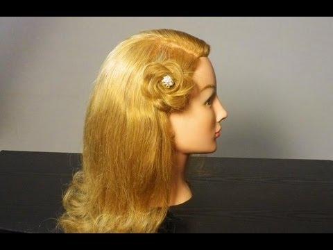 Прическа: Цветок из волос.