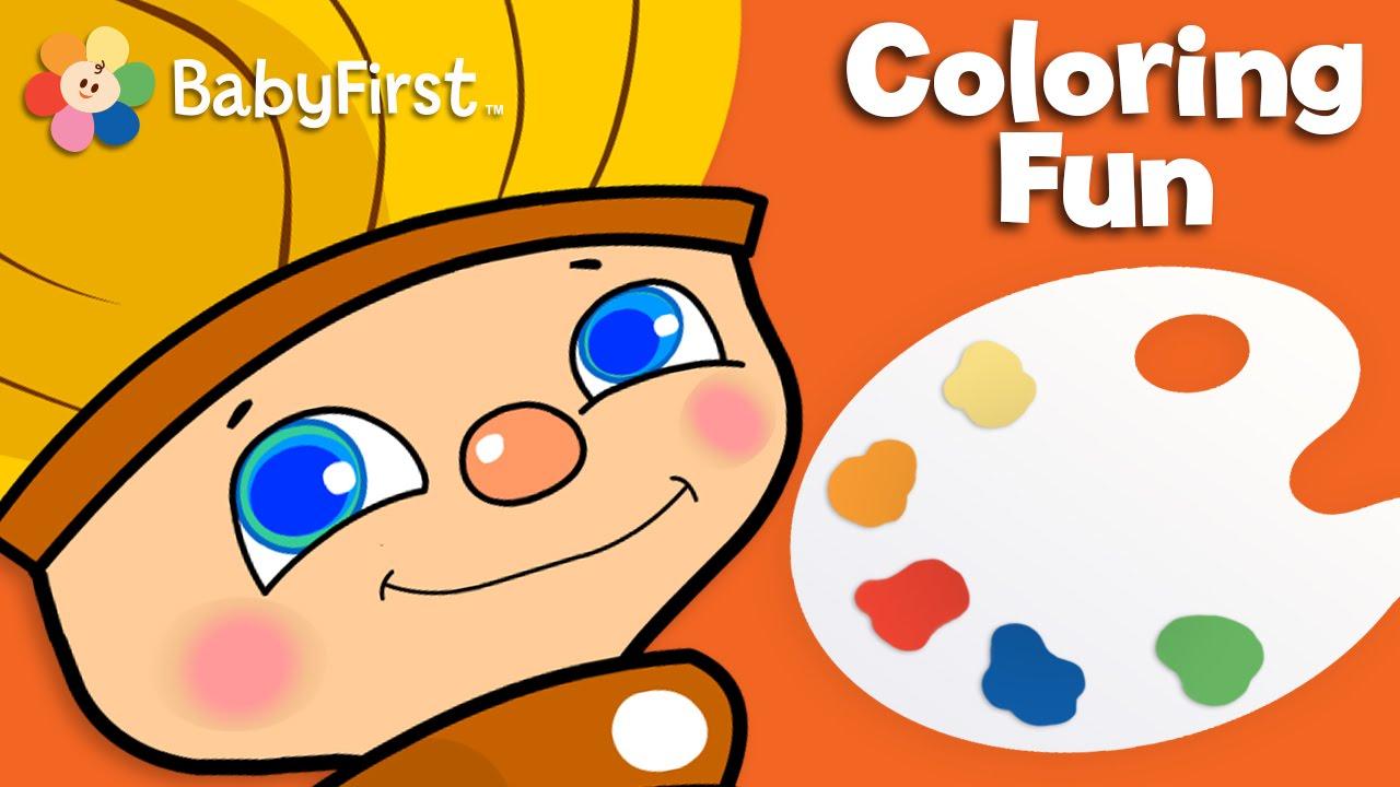 orange delight color for kids petey paintbrush babyfirsttv