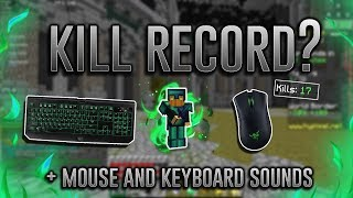mouse and keyboard sounds kill record | Hypixel UHC Highlights #25