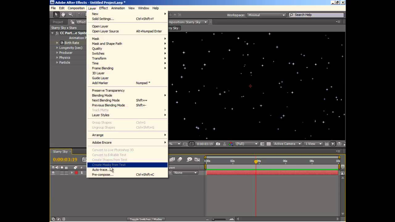 Line Art In After Effects : Starry sky after effects tootorial youtube