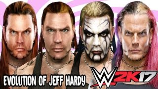 Jeff Hardy Evolution - Face Comparison (Wrestlemania 2000 - WWE Smackdown Vs Raw 2010)
