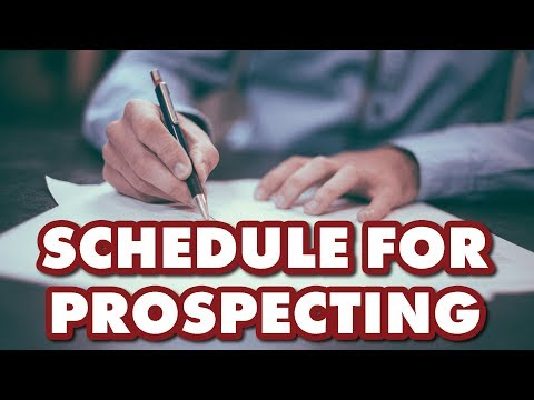MORTGAGE LOAN OFFICER TRAINING - The Loan Officer Schedule For Prospecting