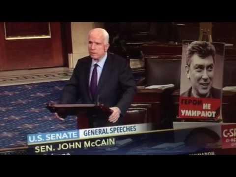 John McCain thunders against killer thug Putin