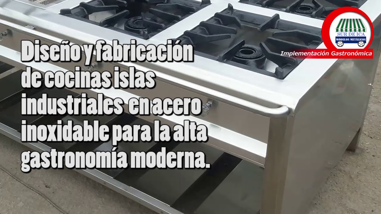 Cocina Industrial Isla En Acero Inoxidable