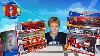 Городской транспорт и машинки помощники. Открываем игрушки машинки Трамвай, Троллейбус, Автовоз