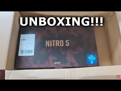 ACER NITRO 5 UNBOXING GAMING LAPTOP GTX 1650