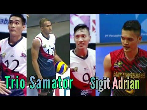 Trio Samator ( Rendi, Rivan, Yuda ) bikin Sigit Adrian Gigit Jari ll Grand Final Proliga 2018